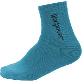 Woolpower 400 Classic Logo Socks Barn dolphin blue